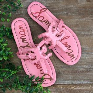 SAM EDELMAN True Patent Pink Carter Sandal Thong